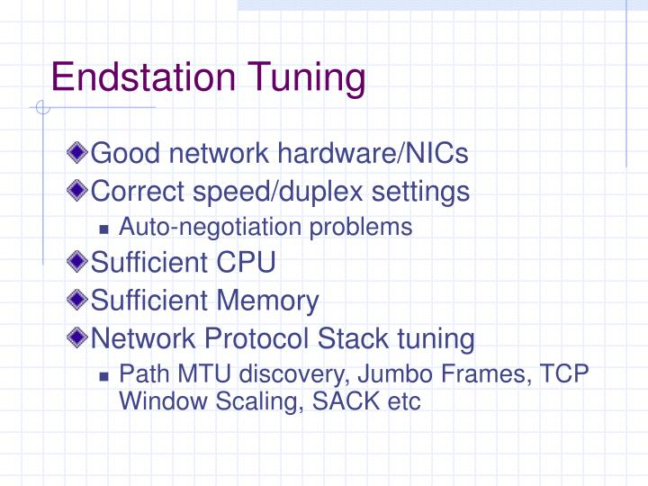 Endstation Tuning