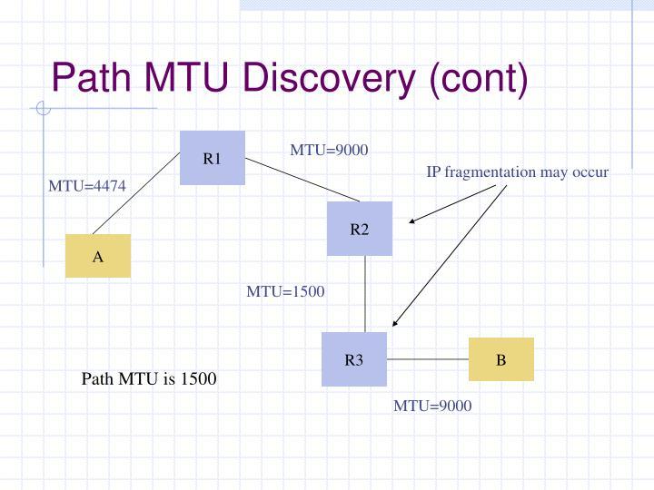 Path MTU Discovery (cont)
