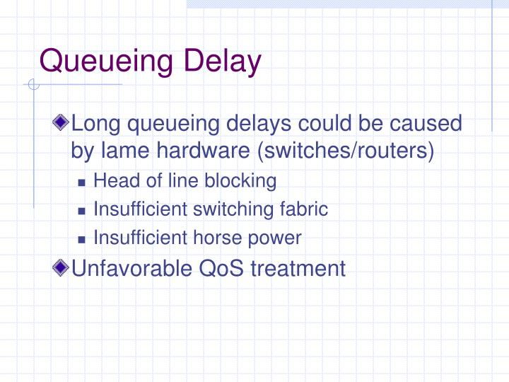 Queueing Delay