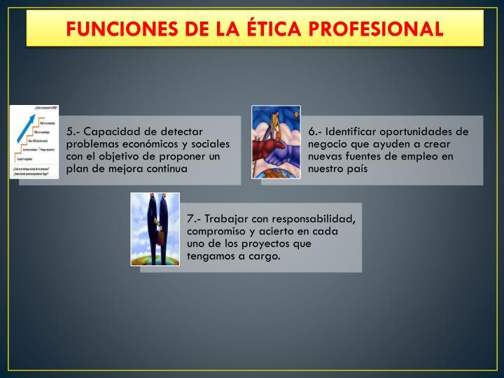 FUNCIONES DE LA ÉTICA PROFESIONAL