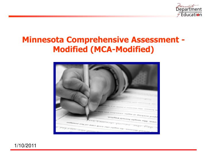 Minnesota comprehensive assessment modified mca modified