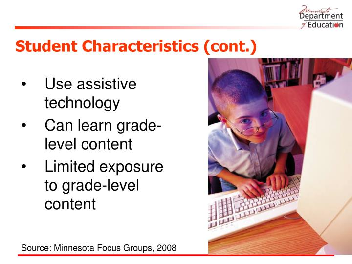 Student Characteristics (cont.)