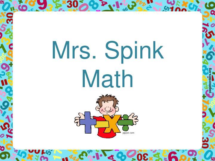 Mrs. Spink