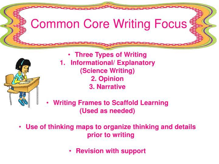 Common Core Writing Focus