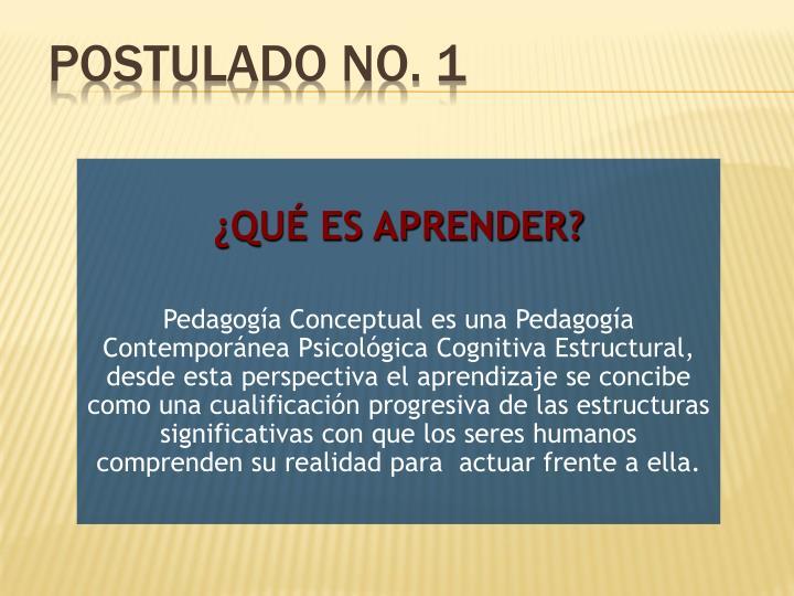 POSTULADO No. 1