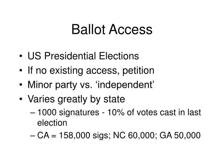Ballot Access
