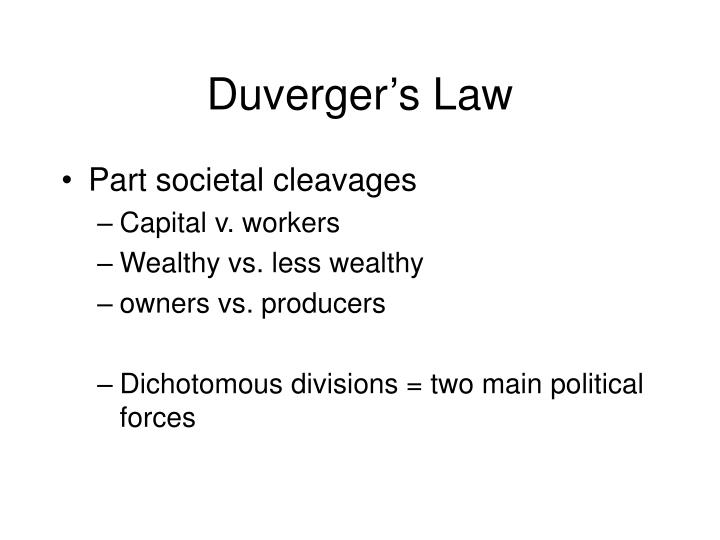Duverger s law