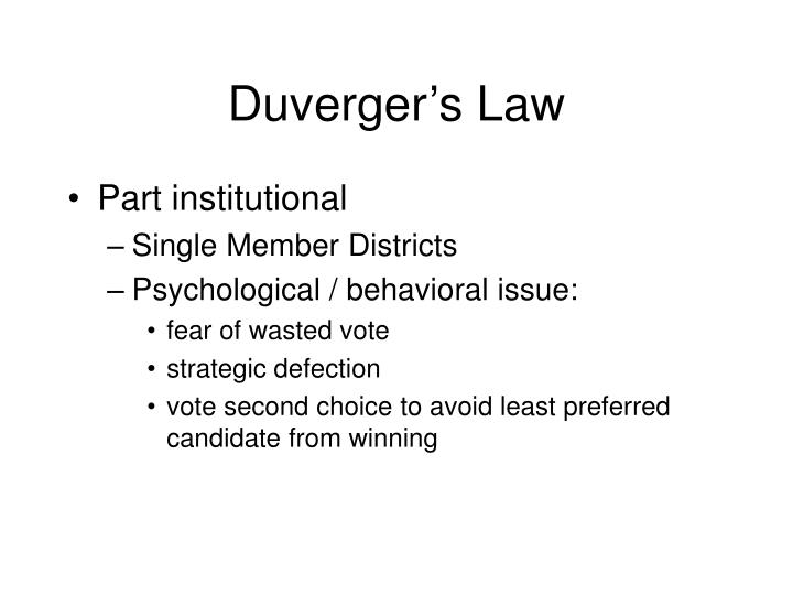 Duverger s law1