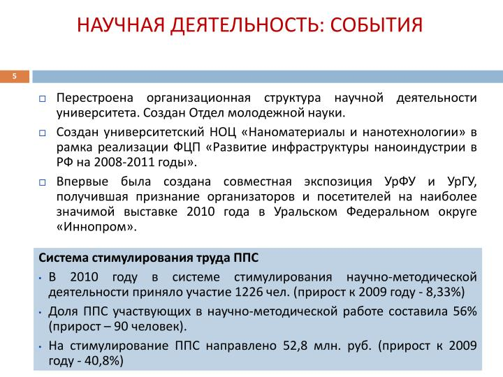 Перестроена организационная структура научной деятельности университета. Создан Отдел молодежной науки.