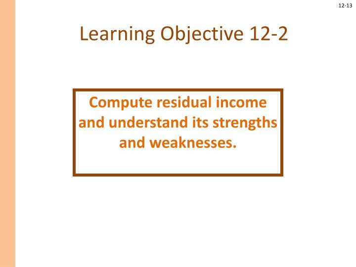 Learning Objective 12-2