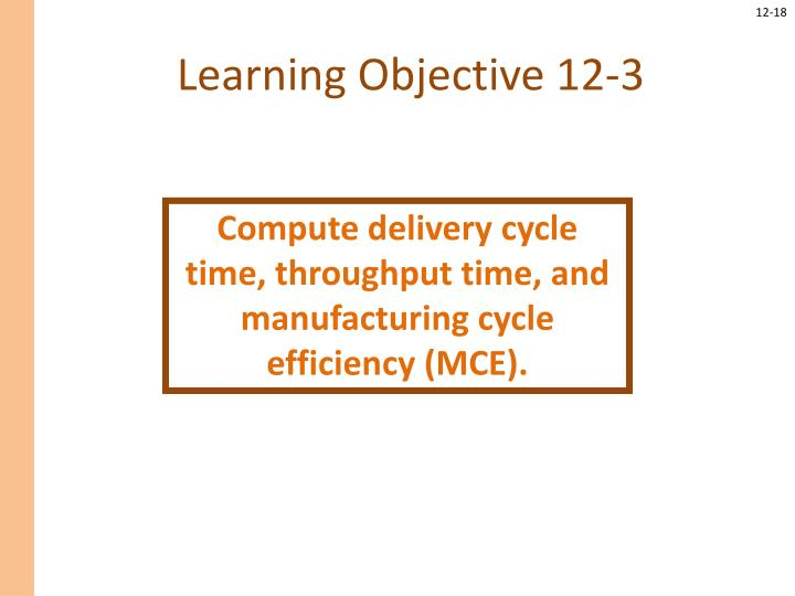 Learning Objective 12-3