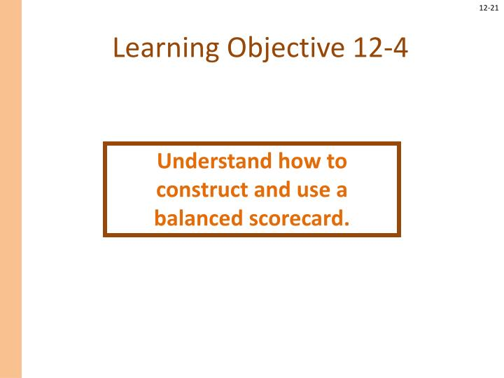 Learning Objective 12-4