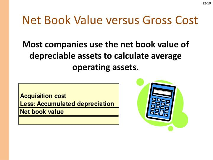 Net Book Value versus Gross Cost