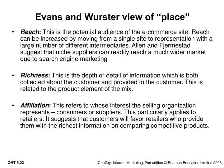 "Evans and Wurster view of ""place"""
