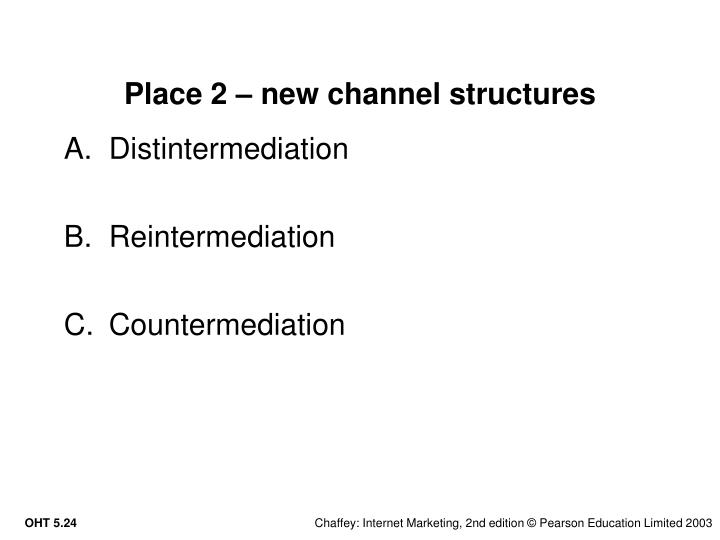 Place 2 – new channel structures