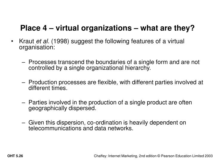 Place 4 – virtual organizations – what are they?