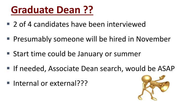 Graduate Dean ??