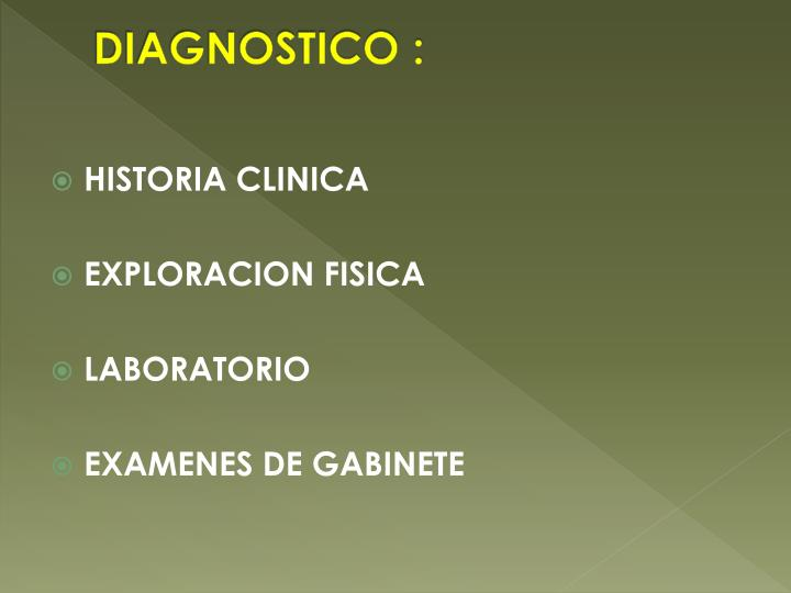 DIAGNOSTICO :