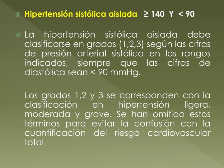 Hipertensión sistólica aislada