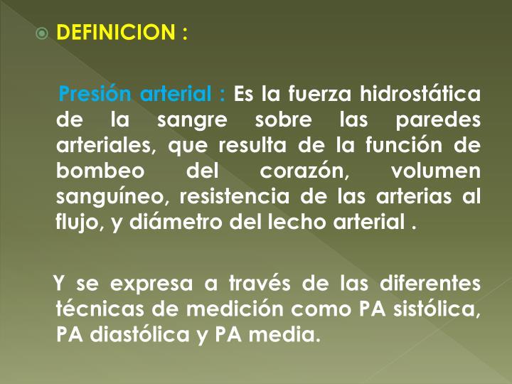 DEFINICION :
