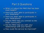 part 3 questions