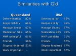 similarities with qld