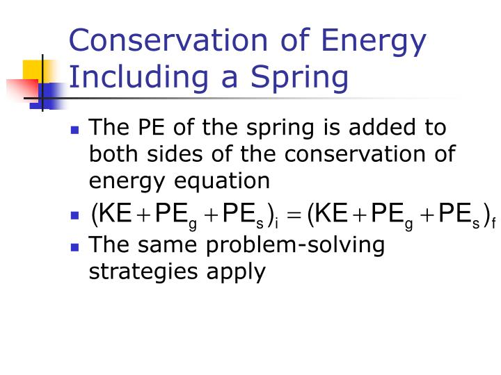 Conservation of Energy Including a Spring