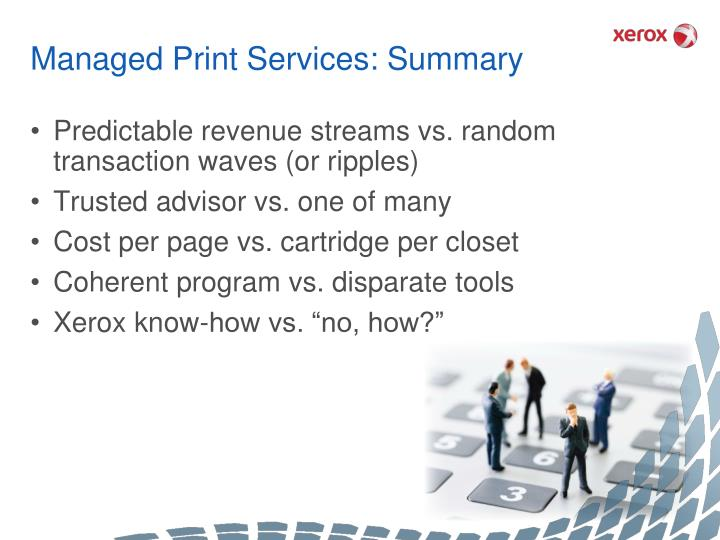 Managed Print Services: Summary