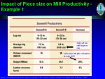 impact of piece size on mill productivity example 1