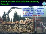 impact of piece size on mill productivity example 2