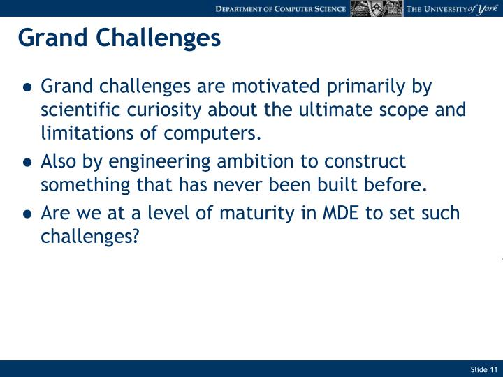 Grand Challenges