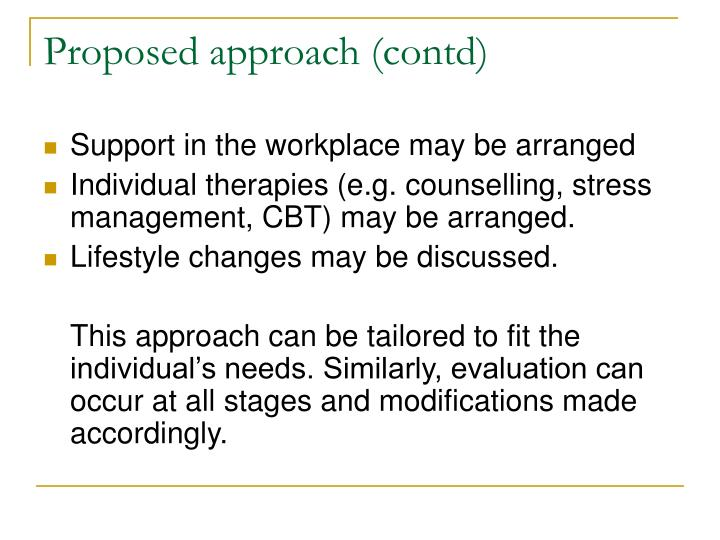 Proposed approach (contd)