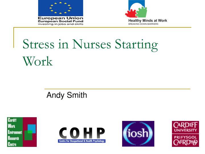 Stress in Nurses Starting Work