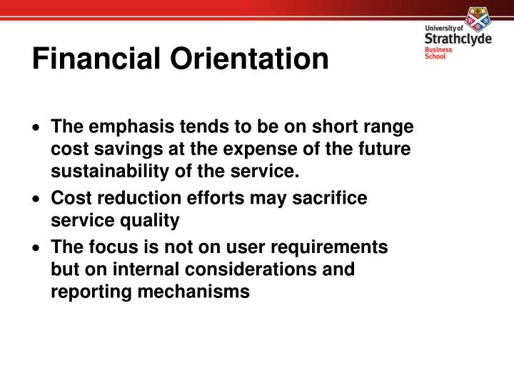 Financial Orientation