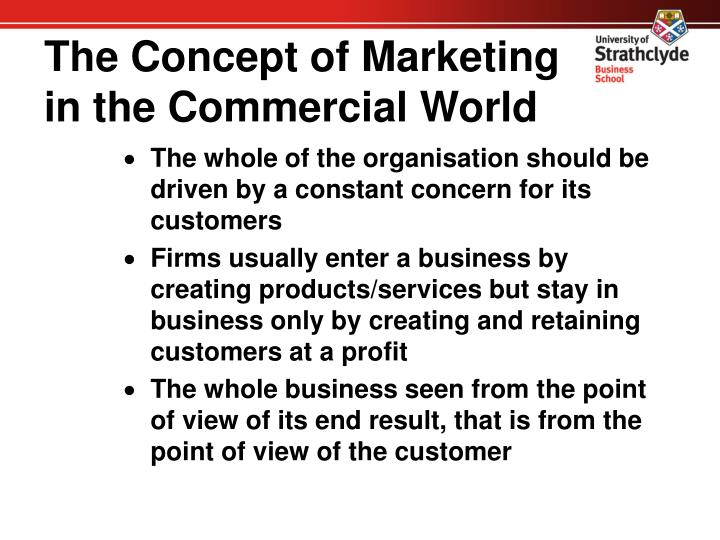 The Concept of Marketing in the Commercial World