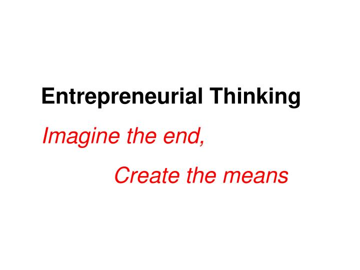 Entrepreneurial Thinking