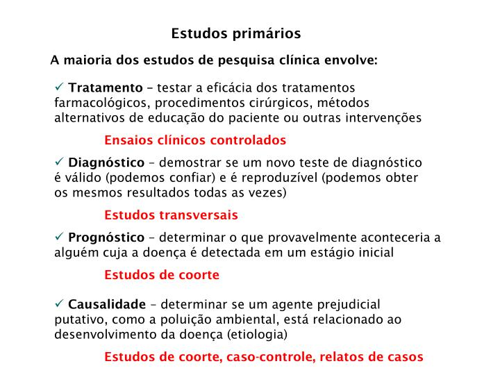 Estudos primários