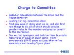 charge to committee
