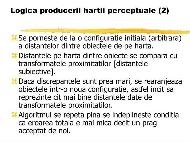 Logica producerii hartii perceptuale (2)