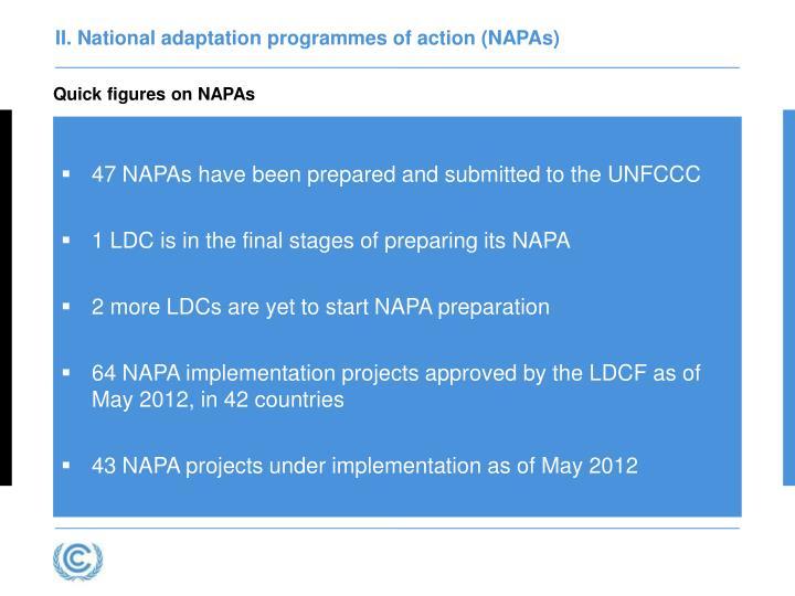 II. National adaptation programmes of action (NAPAs)