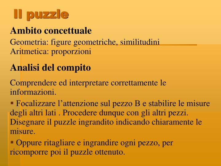 Il puzzle