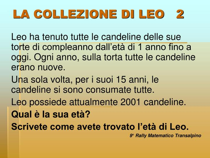LA COLLEZIONE DI LEO   2