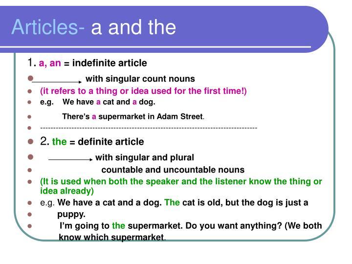 Articles-