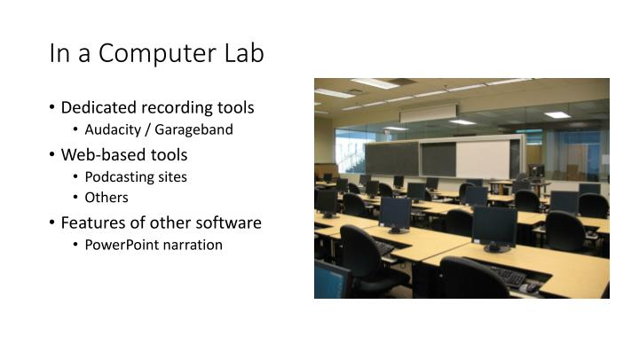 In a Computer Lab