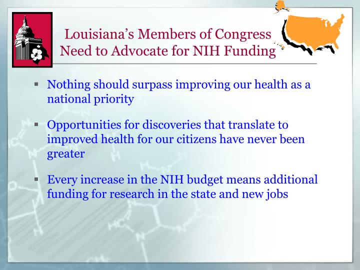 Louisiana's Members of Congress Need to Advocate for NIH Funding