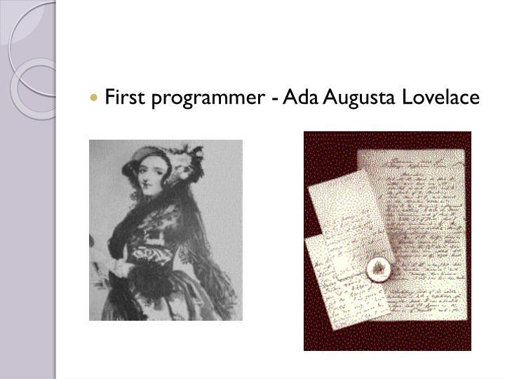 First programmer -