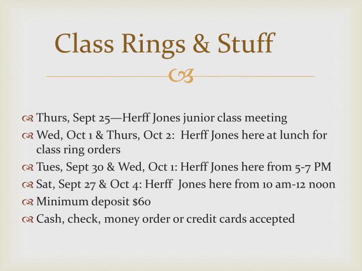 Class Rings & Stuff