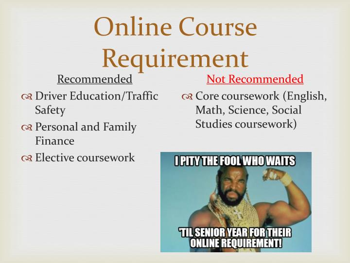 Online Course Requirement