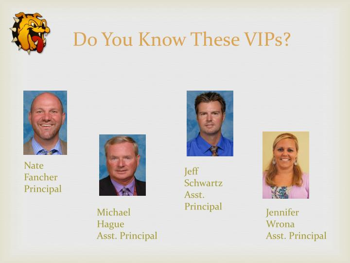 Do You Know These VIPs?