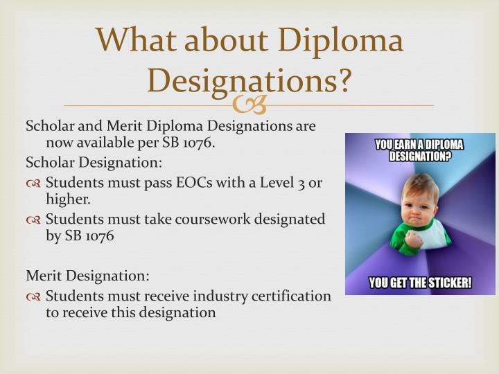 What about Diploma Designations?
